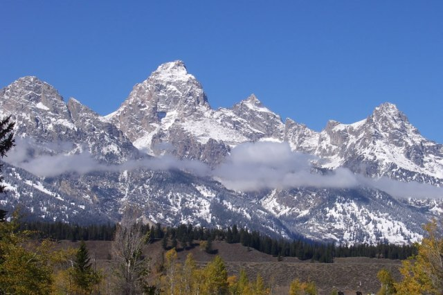 Grand-Teton-with-snow-Moose-Entrance-fall